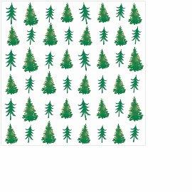 Serviette Mini Weihnachten Tannenbäume Grün