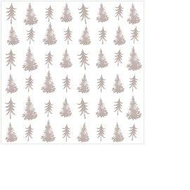 Serviette Mini Weihnachten Tannenbäume Taupe