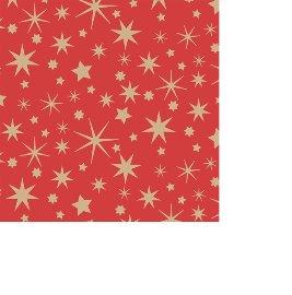 Serviette Mini Weihnachten Sterne Rot
