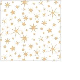 Serviette Mini Weihnachten Sterne Gold