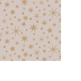 Serviette Mini Weihnachten Sterne Taupe