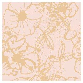 Serviette Blüte Gold Nude