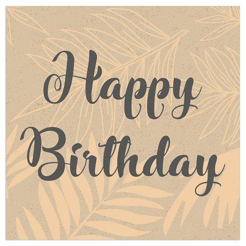 Serviette Organics Happy Birthday Gold