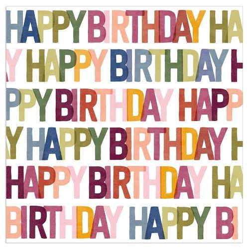 Serviette Spruch Happy Birthday Beere