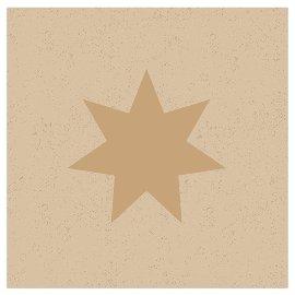 Serviette Organics Weihnachten Stern Gold