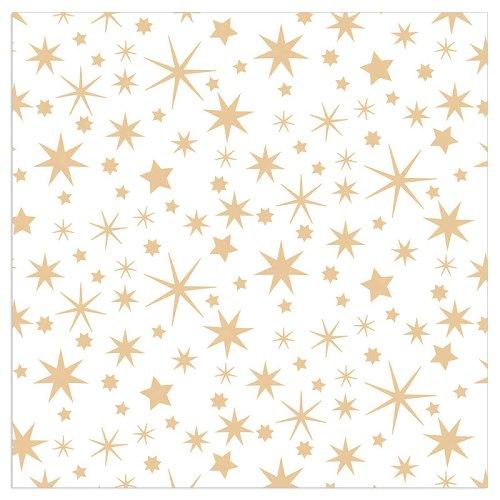 Serviette Weihnachten Sterne Weiß