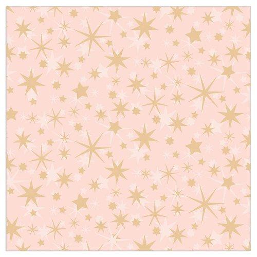 Serviette Weihnachten Sterne Rosé