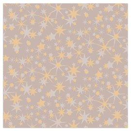 Serviette Weihnachten Sterne Taupe
