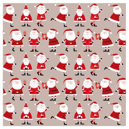 Serviette Weihnachten Santa Taupe