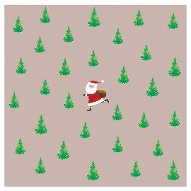 Serviette Weihnachten Santa Tannen Taupe