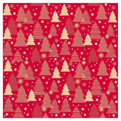 Serviette Weihnachten Tannen Rot