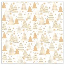Serviette Weihnachten Tannen Weiß