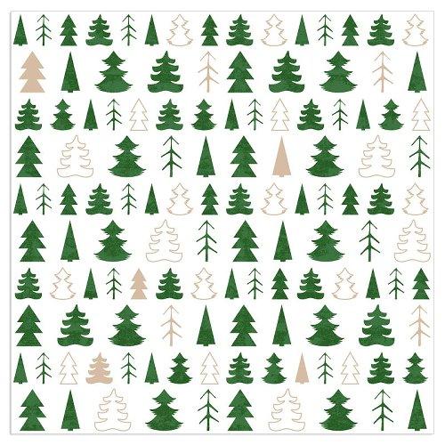 Serviette Weihnachten Tannenbäume Grün