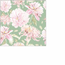 Napkin mini flower green