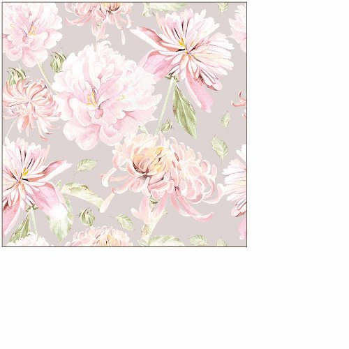 Napkin mini flower taupe