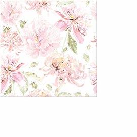 Napkin mini flower white