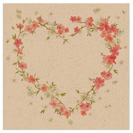 Napkin Organics flower heart rose