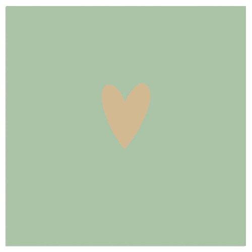 Napkin heart green