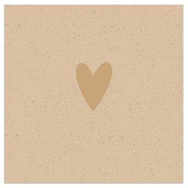 Napkin Organics heart gold
