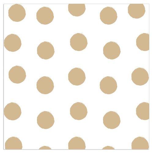 Serviette Punkte Weiß