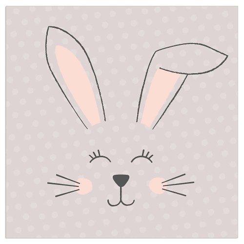 Napkin rabbits taupe