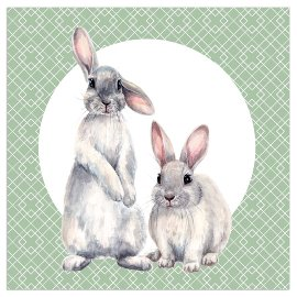 Napkin rabbits green