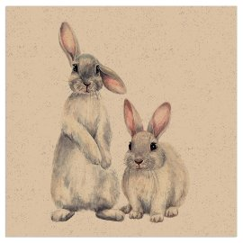 Napkin Organics rabbits nature