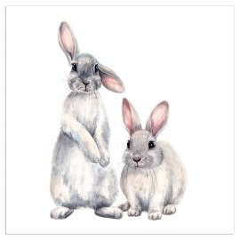 Napkin rabbits white