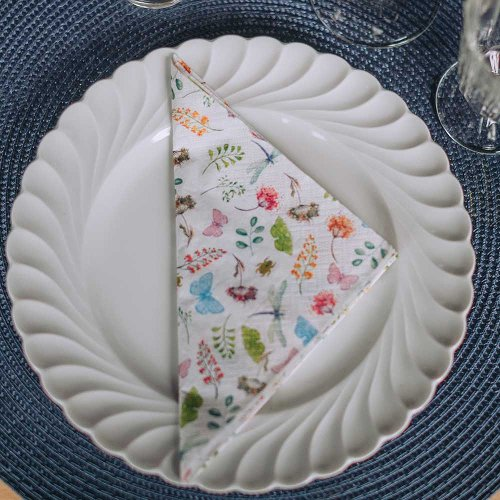 Napkin insects white