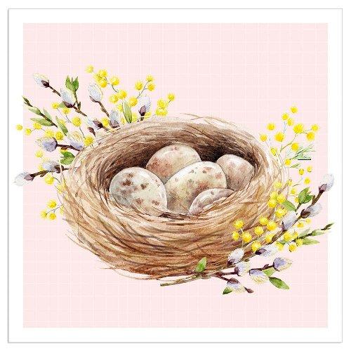 Napkin easter nest nude