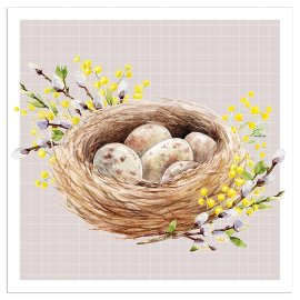 Napkin easter nest taupe