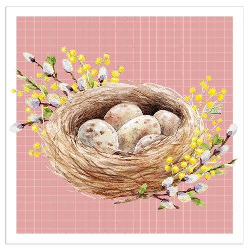 Napkin easter nest rose