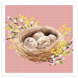 Napkin easter nest rose