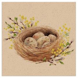 Napkin Organics easter nest