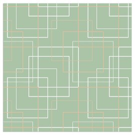 Napkin squares green