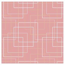 Napkin squares rose