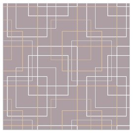 Serviette Quadrate Gold Grau