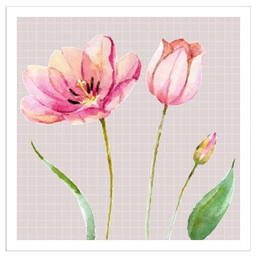 Napkin tulips taupe