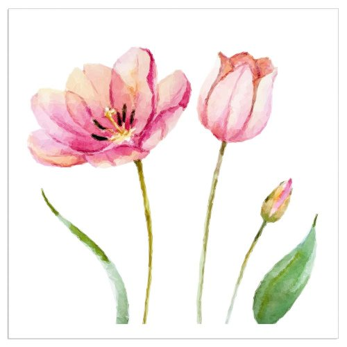 Napkin tulips white