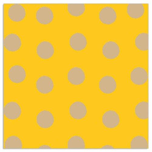 Napkin dots yellow