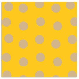 Napkin dots yellow