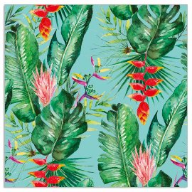 Napkin jungle aqua