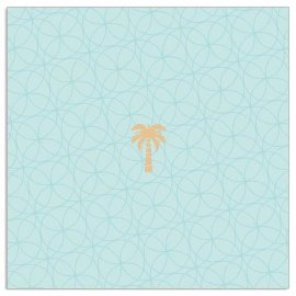 Napkin palm aqua