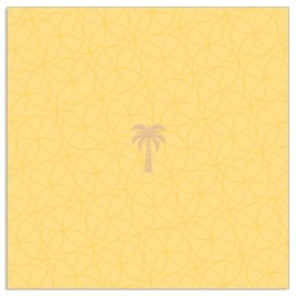 Napkin palm yellow