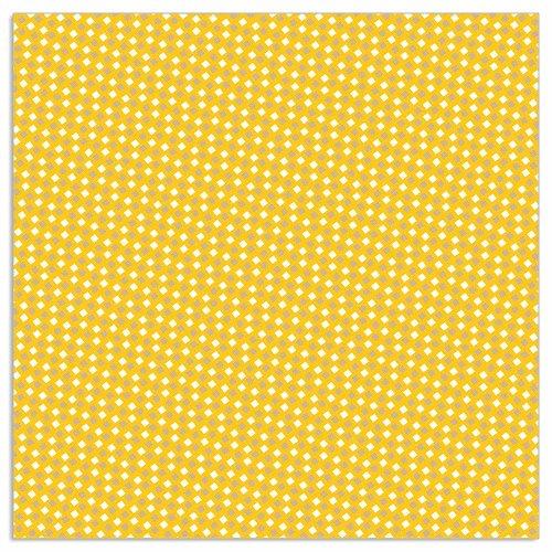 Serviette Muster Sonnengelb
