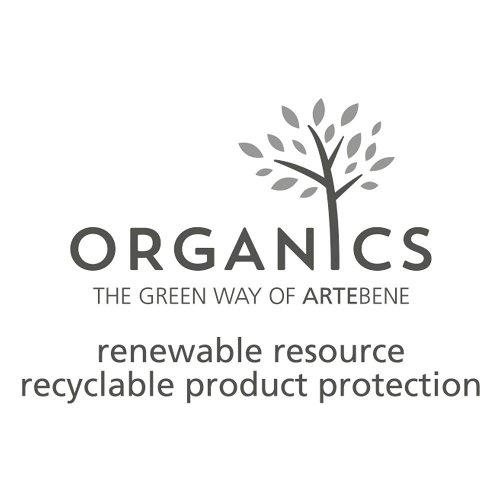 Serviette Organics Blätter Gold Spruch Schön, dass du da bist
