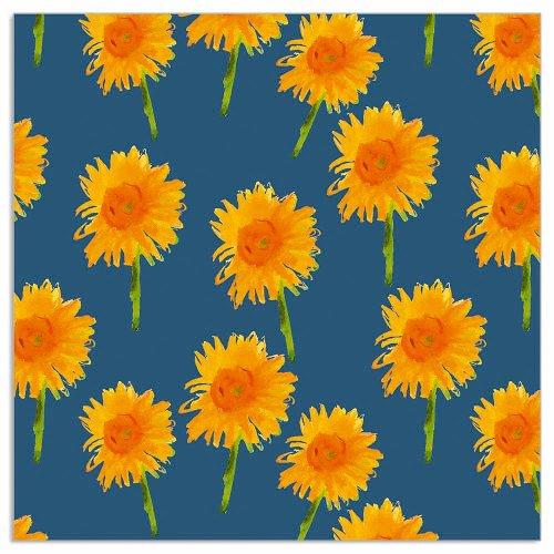 Napkin sunflowers navy