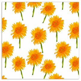 Napkin sunflowers white