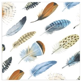 Napkin feathers white