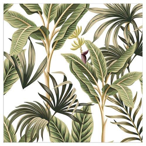 Serviette Palmenblätter Weiß